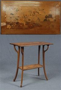 table à double plateau by émile gallé