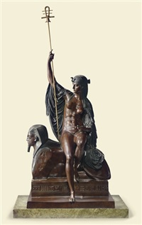 the goddess isis by louis julien (jules) franceschi