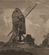 fletcher's mill, wrentham, suffolk (+ 1 etching and 1 drypoint; 3 works) by leonard russel squirrell