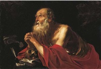saint jerome by jacques blanchard