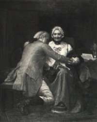 washington bidding farewell to his mother by louis marie baader