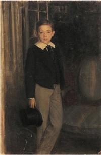 portrait de petit garçon by louis picard