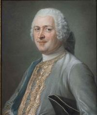 portrait (nicolas-thomas brémontier?) by maurice quentin de la tour