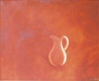 pichet sur fond rouge by amédée ozenfant