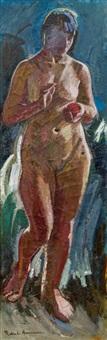 weiblicher akt (eva mit dem apfel) by robin christian andersen