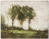 paesaggio con alberi by antoine chintreuil