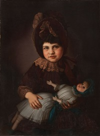 portrait of myra lindauer graham nee partridge, henry partridge's daughter by gottfried lindauer