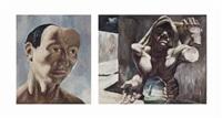 autorretrato; el cargador (2 works) by guillermo meza