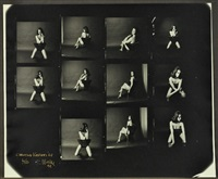 christine keeler 63 (contact sheet) by lewis morley