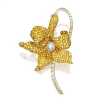 flower brooch by ambrosi