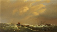 a rescue by lifeboat by george webster