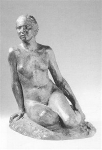 seated nude by alfred courtens