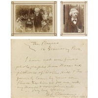 a collection relating to mark twain's residence in london (album w/13 works + 1 cabinet size photograph) by arthur (ph) dunn