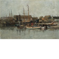 gloucester harbor by charles paul gruppe