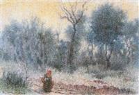 mujer en el bosque by josé (josep) aguilera martí