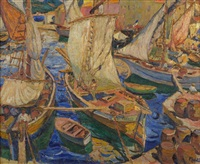 le port de saint-tropez by maria-mela muter