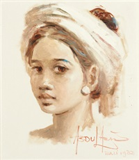 young balinese girl by abdul aziz