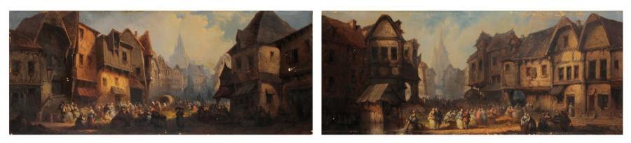 scène de marché another pair by léonard saurfelt