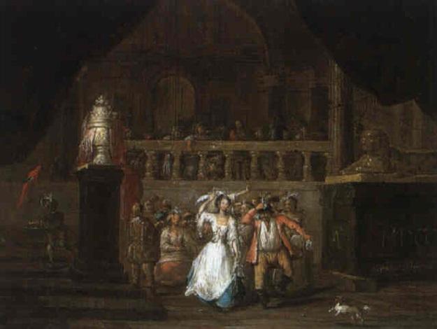 tanzgesellschaft in einem palast by frans breydel