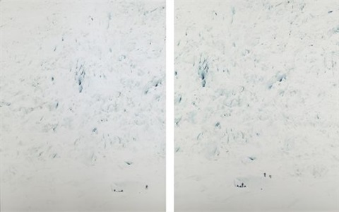 nigardsbreen v diptych by walter niedermayr