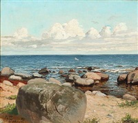coastal scene at rø, bornholm island by niels peter rasmussen