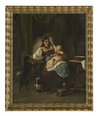 Mother and Child with Dog