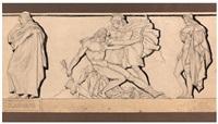 jean-françois de la harpe suivi de philoctète, de néoptolème et d'ulysse, issusde philoctète by pierre jean david d' angers