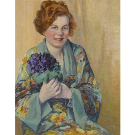 a bouquet of violets by robert reid
