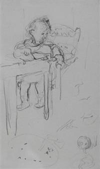 l'enfant à table by edouard vuillard