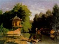 promenade en barque by victor jacques renault