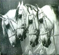 heads of four horses by oscar merte