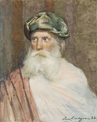 portrait d'un pacha by emil (harald emanuel) lindgren