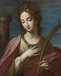 saint barbara by francesco giovanni gessi