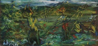 untitled (thatchers, new guinea) by william dobell