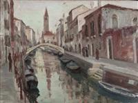 canale a venezia by silvio casagrande