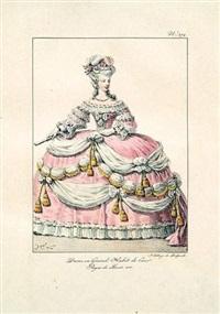 costumes civils et militaires de la monarchie française depuis 1200 jusqu'à 1820 (bk in 3 volumes w/380 works, folio) by hippolyte lecomte