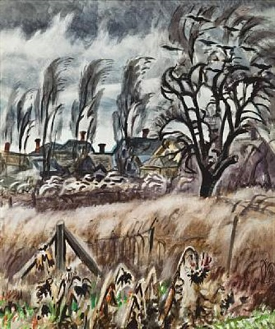 november wind at dusk by charles ephraim burchfield