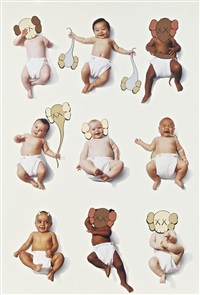 baby poster by kaws
