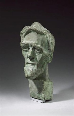 bust of david herbert lawrence by sava botzaris