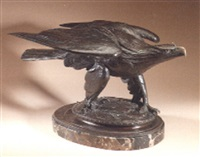 victory. a figure of an eagle by albert laessle