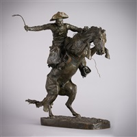 the broncho buster #12 by frederic remington