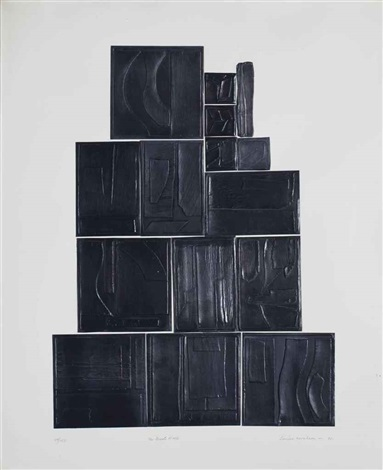 great wall from lead intaglio series by louise nevelson
