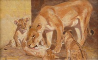 lions (+ another; pair) by carl appel