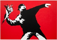 flower thrower by banksy