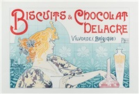 biscuits & chocolat delacre by henri privat-livemont