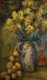 vase of flowers by leo kahn
