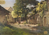 cour de ferme by theodore lespinasse