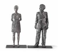 stehende frau (2 works) by stephan balkenhol