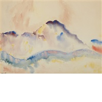 mountain and hills by charles demuth