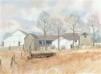 untitled - farm yard by j. stanford perrott